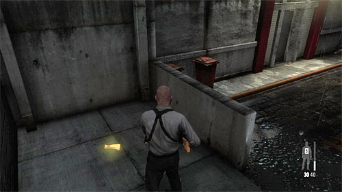 SECRET 6 [Golden Gun - G6 Commando Rifle 1/3]: Behind the small parapet, in area linking different entrances to the police station - Clues and Golden Guns - Chapter XIII - Collectibles - Max Payne 3 - Game Guide and Walkthrough