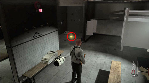 SECRET 7 [Golden Gun - MPK SMG 2/3]: In the left (mens) toilet - Clues and Golden Guns - Chapter XIII - Collectibles - Max Payne 3 - Game Guide and Walkthrough