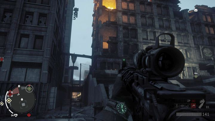 When you get to this location, you will have to deal with all the enemies stationed in the apartment in the west - Old Town - Red zone | Key Points - Key Points - Homefront: The Revolution Game Guide & Walkthrough