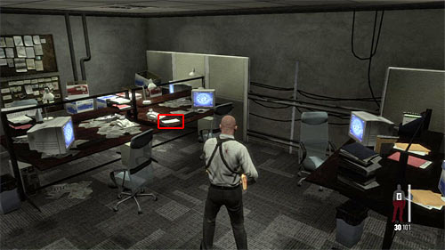 SECRET 9 [Clue 3/7 - Promissory Note]: In office room, next to the polices cafeteria - Clues and Golden Guns - Chapter XIII - Collectibles - Max Payne 3 - Game Guide and Walkthrough