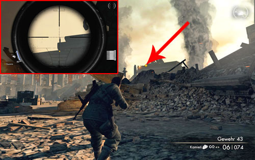 The last Bottle can be found on the Brandenburg gate, right beside the statue [#3] - Mission 10   Wine Bottles and Gold Bars - Wine Bottles and Gold Bars - Sniper Elite V2 Game Guide & Walkthrough