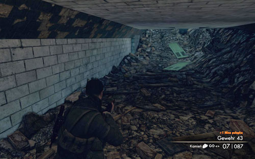 In the tunnel marked with the letter U [#1], beside which two soldiers were stationed - right at the beginning of the mission - Mission 10   Wine Bottles and Gold Bars - Wine Bottles and Gold Bars - Sniper Elite V2 Game Guide & Walkthrough