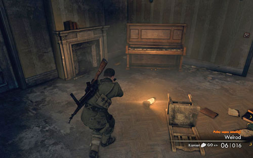 In the last room of the building in which the sniper was, on the right by the piano [#2] - Mission 10   Wine Bottles and Gold Bars - Wine Bottles and Gold Bars - Sniper Elite V2 Game Guide & Walkthrough