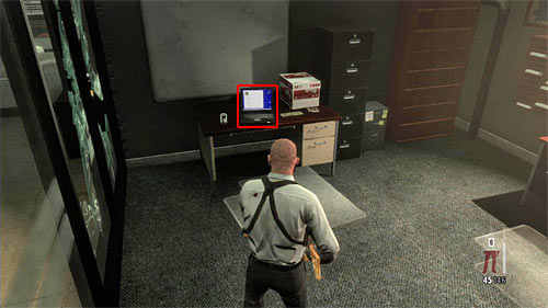 SECRET 12 [Clue 4/7 - E-File on Da Silva]: In one of the left rooms in big office area, where you have a long fight with policemen - Clues and Golden Guns - Chapter XIII - Collectibles - Max Payne 3 - Game Guide and Walkthrough