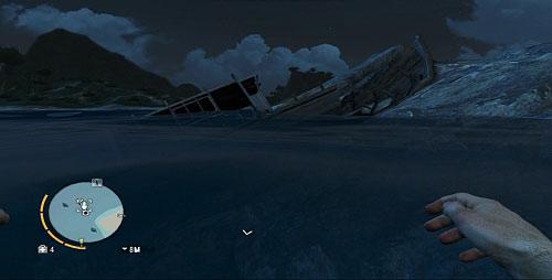 Пройдите в отмеченную область, чтобы найти лодку, разбитую о скалы (скриншот) - Северный остров - Северо-западная часть - Культовые объекты - Far Cry 3 - Руководство по игре и прохождение игры