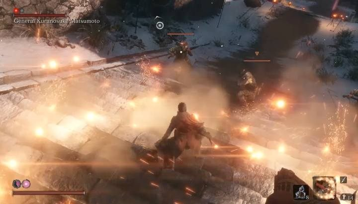 Blind the soldiers with rifles and then eliminate them fast. - General Kuranosuke Matsumoto   Sekiro Shadows Die Twice Boss Fight - Bosses - Sekiro Guide and Walkthrough
