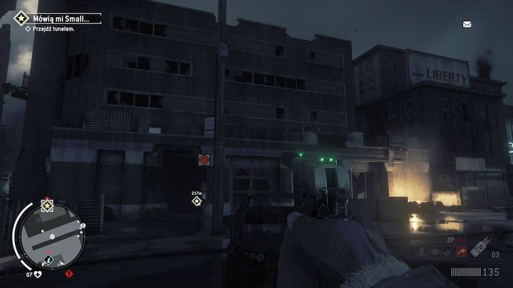 You will need to get to a small passage between the buildings - Old Town - Red zone | Key Points - Key Points - Homefront: The Revolution Game Guide & Walkthrough