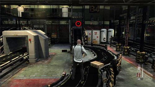 SECRET 1 [Golden Gun - Rotary Grenade Launcher 1/3]: In the beginning area at the end of the conveyor belt - Clues and Golden Guns - Chapter XIV - Collectibles - Max Payne 3 - Game Guide and Walkthrough