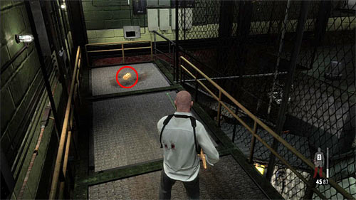 SECRET 2 [Golden Gun - Rotary Grenade Launcher 2/3]: On upper balcony in the beginning zone - Clues and Golden Guns - Chapter XIV - Collectibles - Max Payne 3 - Game Guide and Walkthrough