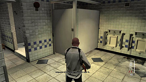 SECRET 3 [Clue 1/1 - Ex-Cop]: In one of toilets cabins - Clues and Golden Guns - Chapter XIV - Collectibles - Max Payne 3 - Game Guide and Walkthrough