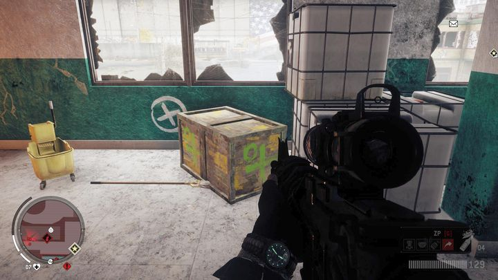 The first one is on the first floor of the main building, right behind the window - Old Town - Red zone | Key Points - Key Points - Homefront: The Revolution Game Guide & Walkthrough