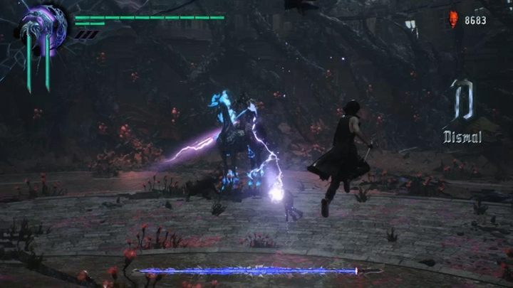 The boss will try to attack you with charges, which you must avoid at all cost - Elder Geryon Knight Boss Fight Guide for DMC5 - Bosses - Devil May Cry 5 Guide