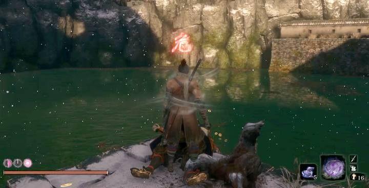 The pond behind the castle. - Headless (underwater) #1   Sekiro Shadows Die Twice Boss Fight - Bosses - Sekiro Guide and Walkthrough
