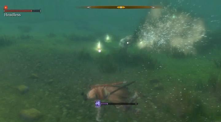 This Headless uses basic attacks - Headless (underwater) #1   Sekiro Shadows Die Twice Boss Fight - Bosses - Sekiro Guide and Walkthrough