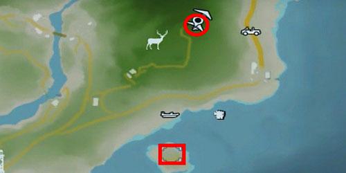 Чтобы получить эту статуэтку, вам снова нужно использовать дельтаплан из области, отмеченной на скриншоте выше (круг) - Северный остров - Северный полуостров - Объекты культа - Far Cry 3 - Руководство по игре и прохождение игры