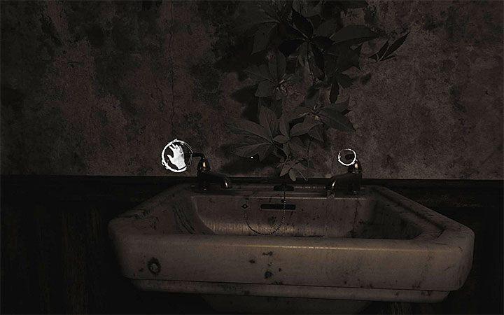 Теперь подойдите к раковине и поверните левый кран (картинка выше) - Загадка с горшком и тенями   Решение загадки в Layers of Fear 2 - Layers of Fear 2 - Руководство по игре