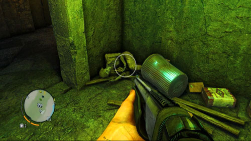Downstairs, take the first passage to the left, glowing green - The Northern Island - North-eastern part - Letters of the Lost - Far Cry 3 - Game Guide and Walkthrough
