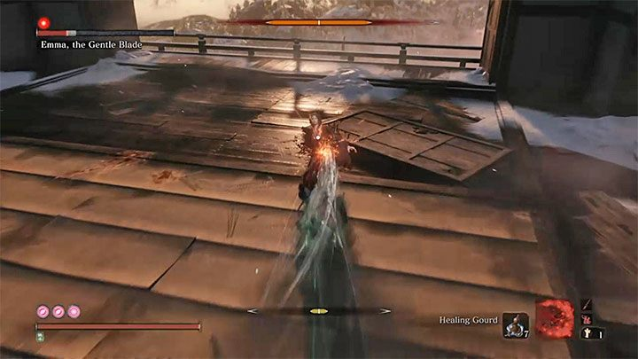 You can fight Emma according to the typical combat rules: focus on achieving perfect parries, and thus attempt to significantly weaken its Posture bar - Emma, the Gentle Blade   Sekiro Shadows Die Twice Boss Fight - Bosses - Sekiro Guide and Walkthrough