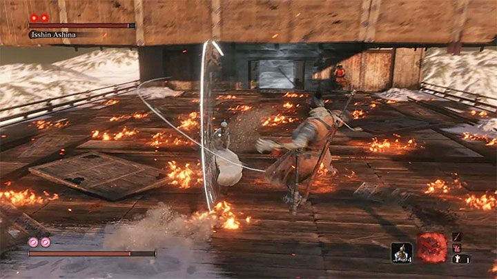 Isshin Ashina, unlike Emma, is marked with two markers, which means that to defeat him, you need to perform two deadly attacks - Isshin Ashina   Sekiro Shadows Die Twice Boss Fight - Bosses - Sekiro Guide and Walkthrough