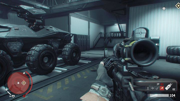 You can enter the interrogation room through the main hangar, via the garage - Forbidden Zone | Key Points - Key Points - Homefront: The Revolution Game Guide & Walkthrough