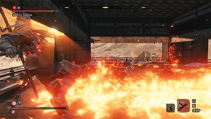 Two other fire attacks of Isshin - Isshin Ashina   Sekiro Shadows Die Twice Boss Fight - Bosses - Sekiro Guide and Walkthrough
