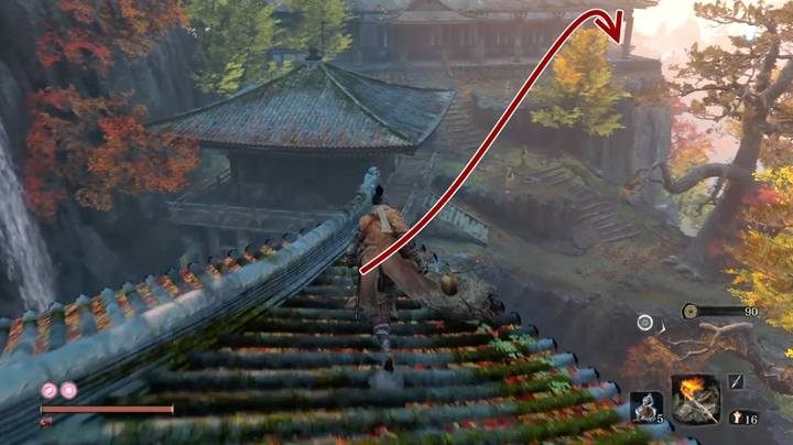 Long-arm Centipede Senun boss resides in the Senpou Temple, shortly after the battle with the Armored Warrior - Long-arm Centipede Senun   Sekiro Shadows Die Twice Boss Fight - Bosses - Sekiro Guide and Walkthrough