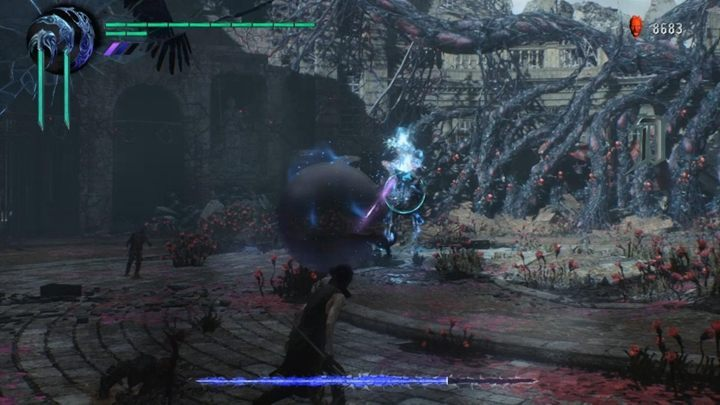 After some time, everything will return to normal - Elder Geryon Knight Boss Fight Guide for DMC5 - Bosses - Devil May Cry 5 Guide