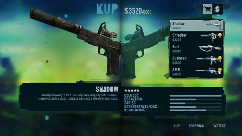 Apart from the regular weapons ,which you unlock as you progress in the game, there are seven weapons that will be added to the shop's stock, after you meet certain requirements - Special weapons - Far Cry 3 - Game Guide and Walkthrough