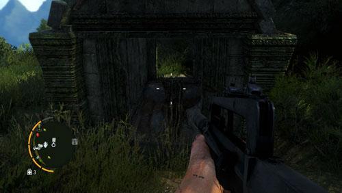 Доберитесь до области, отмеченной красным кружком на карте, чтобы встретить спуск с виноградными лозами - Южный остров - Северо-западная часть - Объекты культа - Far Cry 3 - Руководство по игре и прохождение игры