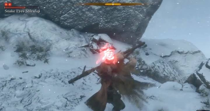 Watch out for a special attack that pulls you to the boss; this attack can catch you when you are in the air. - Snake Eyes Shirafuji   Sekiro Shadows Die Twice Boss Fight - Bosses - Sekiro Guide and Walkthrough