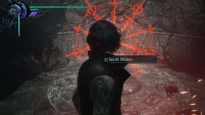 You come across Qlipoth roots blocking a passage - Secret Mission 06 walkthrough for Devil May Cry 5 - Secret missions - Devil May Cry 5 Guide