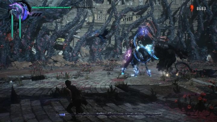 Also, beware of an attack in which the boss drives the sword into the ground and creates discharges around it - Elder Geryon Knight Boss Fight Guide for DMC5 - Bosses - Devil May Cry 5 Guide