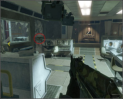The secret is on the left by the window on one of the desks - Executive Order | Intel - Intel location - Call of Duty: Black Ops Game Guide & Walkthrough