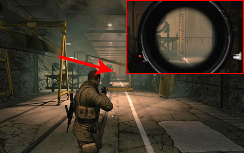 On a platform beside one of the parts [#3] - firstly follow corridor 38 and turn right (it ends theres a dead end) - Mission 2   Wine Bottles and Gold Bars - Wine Bottles and Gold Bars - Sniper Elite V2 Game Guide & Walkthrough