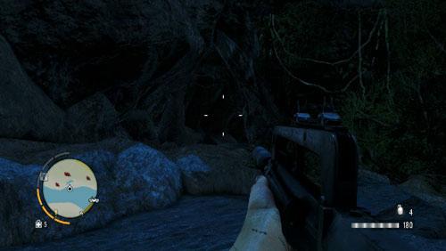 Добравшись до области, отмеченной красным кружком, вы найдете вход в затопленный туннель - Южный остров - Северо-западная часть - Объекты культа - Far Cry 3 - Руководство по игре и прохождение игры
