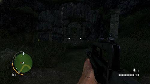 Доберитесь до области, отмеченной красным кружком, лицом к входу в храм - Южный остров - Северо-восточная часть - Объекты культа - Far Cry 3 - Руководство по игре и прохождение игры