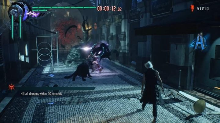 The objective is to kill all demons within 20 seconds - Secret Mission 06 walkthrough for Devil May Cry 5 - Secret missions - Devil May Cry 5 Guide