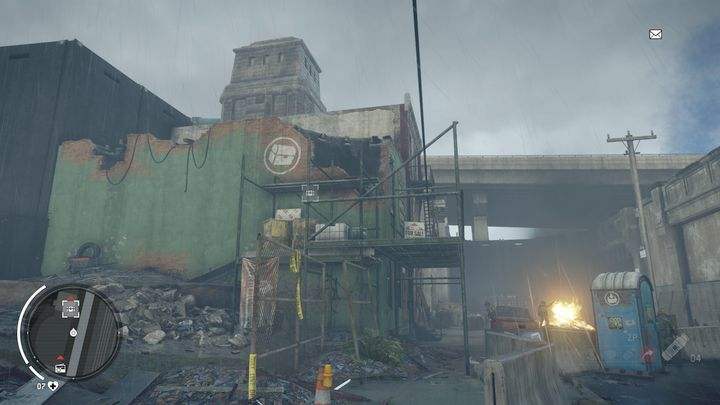 An entrance to another warehouse can be found in the place depicted above - Earlstone - Yellow zone | Journals and jobs - Journals and jobs - Homefront: The Revolution Game Guide & Walkthrough