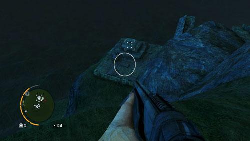 На вершине, из области, отмеченной кружком, вы увидите каменистый уступ, на котором находится статуэтка - Южный остров - Северо-восточная часть - Объекты культа - Far Cry 3 - Руководство по игре и прохождение игры