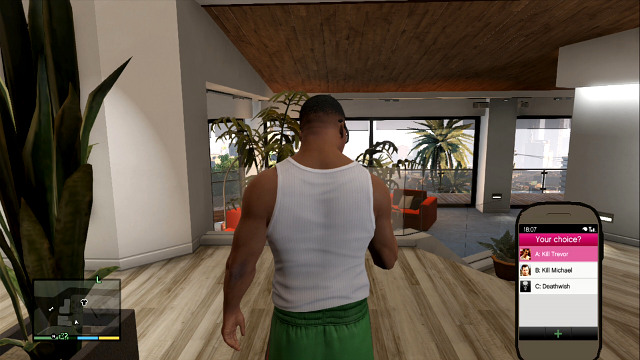 Franklin will have to choose the game ending - Endings - Choices and endings - Grand Theft Auto V Game Guide