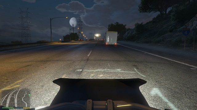 Only me, my motorbike and a wide highway. - First-person mode - Basics - Grand Theft Auto V Game Guide