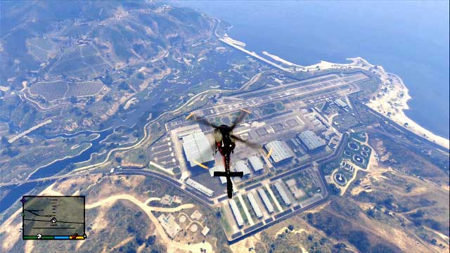 Fort Zancudo is a heavy equipment mine - Government facilities - The most interesting places - Grand Theft Auto V Game Guide