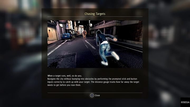 Chases are a new feature of Judgment - Pursuits in Judgment - A detectives work - Judgment Guide