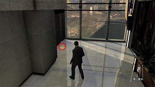 SECRET 1 [Golden Gun - PT92 Pistol 1/3]: You find it at the end of the starting corridor, by the windows - Clues and Golden Guns - Chapter I - Collectibles - Max Payne 3 - Game Guide and Walkthrough