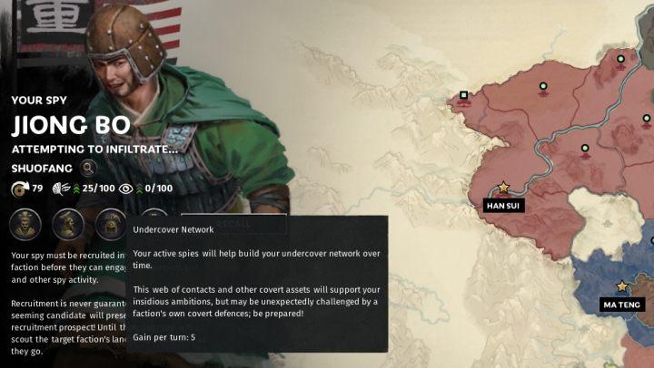 Вы можете проверить количество доступных ресурсов на шпионском портрете. - Шпионаж в Total War Three Kingdoms - Руководство по игре и прохождение игры