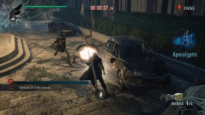 The aim of this secret mission is to eliminate all demons in 90 seconds - Secret mission 01 walkthrough for Devil May Cry 5 - Secret missions - Devil May Cry 5 Guide