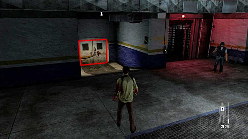 SECRET 2 [Clue 2/4 - Blood Stained Door]: On the white door on the left from the elevator - Clues and Golden Guns - Chapter III - Collectibles - Max Payne 3 - Game Guide and Walkthrough