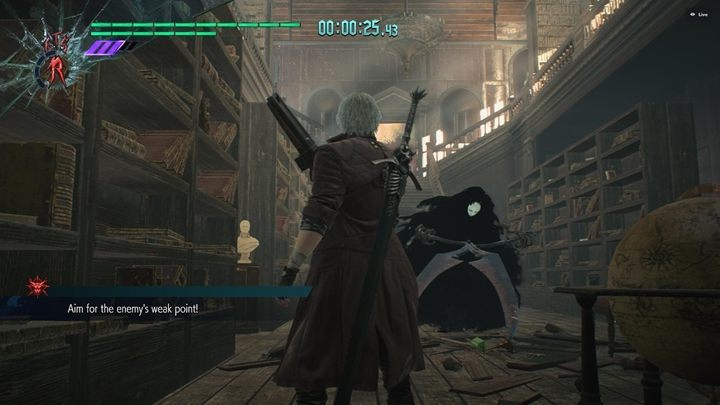 The objective is rather difficult - you need to disarm a Death Scissors and kill it with one shot - Secret Mission 07 walkthrough for Devil May Cry 5 - Secret missions - Devil May Cry 5 Guide