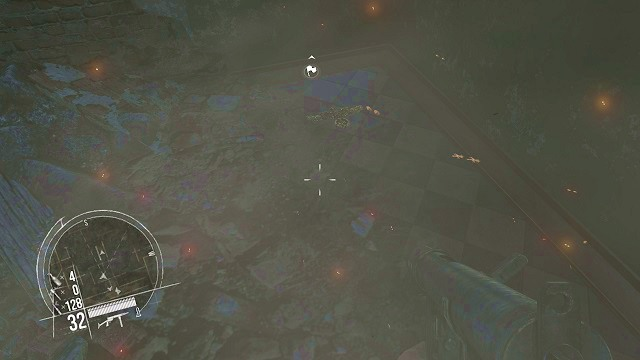 The location of the 1st secret. - Mission 8 - Collectibles - Enemy Front - Game Guide and Walkthrough
