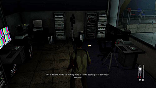 SECRET 3 [Golden Gun - M10 1/3]: In the small recording room, next to the place in which one of the bandits is interrogated - Clues and Golden Guns - Chapter III - Collectibles - Max Payne 3 - Game Guide and Walkthrough